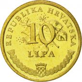 Croatie, 10 Lipa, 1999, FDC, Brass plated steel, KM:6