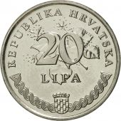 Croatie, 20 Lipa, 1995, FDC, Nickel plated steel, KM:7