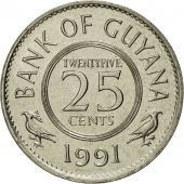 Guyana, 25 Cents, 1991, FDC, Copper-nickel, KM:34