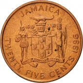 Jamaica, Elizabeth II, 25 Cents, 1996, British Royal Mint, SPL, Copper Plated