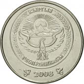 KYRGYZSTAN, Som, 2008, Paris, MS(65-70), Nickel plated steel, KM:14