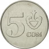 KYRGYZSTAN, 5 Som, 2008, Paris, SPL, Nickel plated steel, KM:16