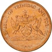 TRINIDAD & TOBAGO, Cent, 2005, Franklin Mint, MS(65-70), Bronze, KM:29