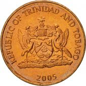 TRINIDAD & TOBAGO, 5 Cents, 2005, Franklin Mint, MS(65-70), Bronze, KM:30