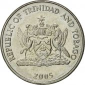 TRINIDAD & TOBAGO, 25 Cents, 2005, Franklin Mint, MS(65-70), Copper-nickel