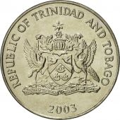 TRINIDAD & TOBAGO, 50 Cents, 2003, Franklin Mint, MS(65-70), Copper-nickel