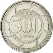 Lebanon, 500 Livres, 2000, FDC, Nickel plated steel, KM:39