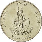 Vanuatu, 50 Vatu, 1990, British Royal Mint, FDC, Copper-nickel, KM:8