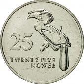 Zambia, 25 Ngwee, 1992, British Royal Mint, MS(65-70), Nickel plated steel