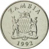 Zambia, 50 Ngwee, 1992, British Royal Mint, MS(65-70), Nickel plated steel