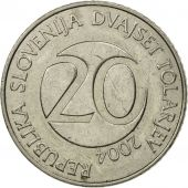 Slovenia, 20 Tolarjev, 2004, Kremnica, MS(60-62), Copper-nickel, KM:51