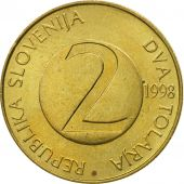 Slovenia, 2 Tolarja, 1998, MS(63), Nickel-brass, KM:5