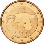 Estonia, 5 Euro Cent, 2011, MS(65-70), Copper Plated Steel, KM:63