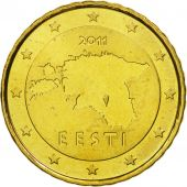 Estonia, 10 Euro Cent, 2011, MS(65-70), Brass, KM:64