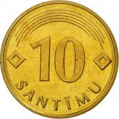 Latvia, 10 Santimu, 1992, FDC, Nickel-brass, KM:17