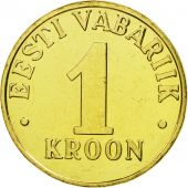 Estonia, Kroon, 2001, no mint, FDC, Aluminum-Bronze, KM:35
