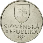 Slovaquie, 2 Koruna, 2007, SPL, Nickel plated steel, KM:13
