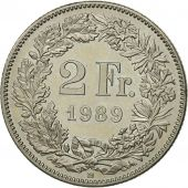 Suisse, 2 Francs, 1989, Bern, SPL, Copper-nickel, KM:21a.3