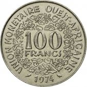 West African States, 100 Francs, 1974, Paris, SPL, Nickel, KM:4