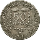 West African States, 50 Francs, 1980, Paris, SPL, Copper-nickel, KM:6