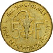 West African States, 5 Francs, 1974, Paris, SUP+, Aluminum-Nickel-Bronze, KM:2a