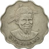 Swaziland, Sobhuza II, 20 Cents, 1974, British Royal Mint, SPL, Copper-nickel