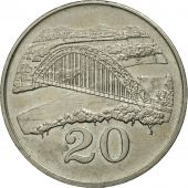 Zimbabwe, 20 Cents, 1991, MS(63), Copper-nickel, KM:4