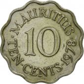 Mauritius, Elizabeth II, 10 Cents, 1978, AU(55-58), Copper-nickel, KM:33