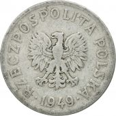 Poland, 20 Groszy, 1949, Kremnica, MS(60-62), Copper-nickel, KM:43