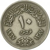 Égypte, 10 Piastres, 1967, SPL, Copper-nickel, KM:413