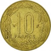 Central African States, 10 Francs, 1978, Paris, MS(63), Aluminum-Bronze, KM:9