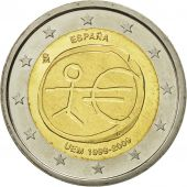 Spain, 2 Euro, EMU, 2009, MS(63), Bi-Metallic