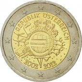 Autriche, 2 Euro, 10 ans de lEuro, 2012, SPL, Bi-Metallic