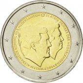 Netherlands, 2 Euro, Double Portrait, 2014, MS(63), Bi-Metallic