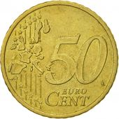 IRELAND REPUBLIC, 50 Euro Cent, 2002, TTB, Laiton, KM:37