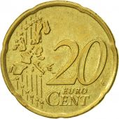 IRELAND REPUBLIC, 20 Euro Cent, 2002, TTB, Laiton, KM:36