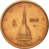 Italie, 2 Euro Cent, 2002, SUP+, Copper Plated Steel, KM:211