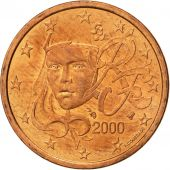 France, 5 Euro Cent, 2000, TTB, Copper Plated Steel, KM:1284