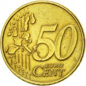 Netherlands, 50 Euro Cent, 2002, EF(40-45), Brass, KM:239