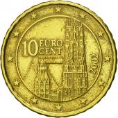 Austria, 10 Euro Cent, 2002, MS(63), Brass, KM:3085