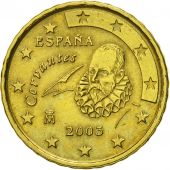 Spain, 10 Euro Cent, 2003, MS(60-62), Brass, KM:1043