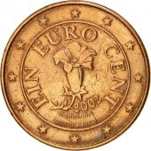 Austria, Euro Cent, 2002, EF(40-45), Copper Plated Steel, KM:3082