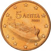 Greece, 5 Euro Cent, 2002, MS(63), Copper Plated Steel, KM:183