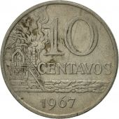 Brésil, 10 Centavos, 1967, SUP, Copper-nickel, KM:578.1