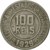 Brésil, 100 Reis, 1929, TTB+, Copper-nickel, KM:518