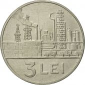Roumanie, 3 Lei, 1966, SUP+, Nickel Clad Steel, KM:96