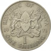 Kenya, Shilling, 1971, AU(50-53), Copper-nickel, KM:14