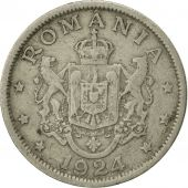 Roumanie, Ferdinand I, 2 Lei, 1924, TTB, Copper-nickel, KM:47