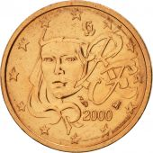 France, 2 Euro Cent, 2000, SUP+, Copper Plated Steel, KM:1283