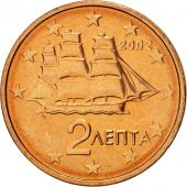 Grèce, 2 Euro Cent, 2002, SUP+, Copper Plated Steel, KM:182